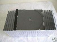 100 NEW 10.4MM SINGLE CD JEWEL CASES WITH BLACK TRAY BL110PK