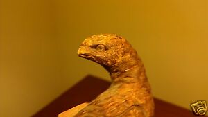 ANTIQUE 19th CENTURY AMERICAN FOLK ART GROUND BIRD GROUSE CARVING WINCHESTER VA