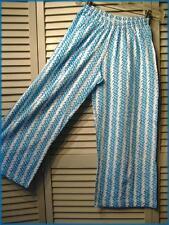 "Girl's Turquoise Blue White DOTS Cotton Knit Lounge PJ Pants (M) 20"" - 28"" waist"