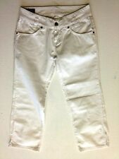 Lee Leola 4/5 Jeans Hose Weiß Unifarben W29 L29