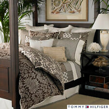 TOMMY HILFIGER Paisley DUVET SET Brown Queen Floral Cotton Scroll House On Hill