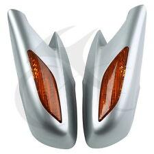Side Rear View Mirrors With Orange Turn Signal Lens For Honda ST1300 2002-2011