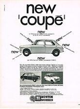 """PUBLICITE  1968   AUSTIN MORRIS  1300  """" NEW COUPE"""""""