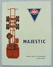 AEC MAJESTIC 6x4 Bonneted Truck Chassis Sales Brochure Aug 1962 #736.8.62