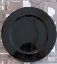 Mancioli 6 manteles porcelana negro brillante 30 cm