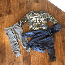 Zara Baby Boy 3 Piece Clothing Set Shirt pants hoodie Size 4  (G)   -8