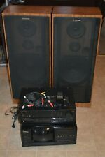 VTG Pioneer Stereo Home System VSX-405 Receiver 100 Disc  PD-F905 Tower Speakers