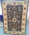 Antique French Tapestry Aubusson Hand Woven Cross Stitch With Date 1944