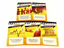 Pandemic Replacement / Expansion Event Game Card Set 5pc