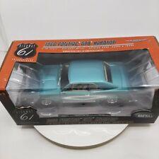 1966 66 Pontiac GTO 1:18 Highway 61 Reef Turquoise Blue / White Interior