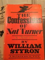 William STYRON / The Confessions of Nat Turner 1967 Printing Civil War Slavery