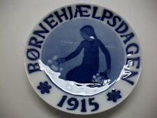 "Royal Copenhagen 1915 Child Day Plate - Girl Picking Flowers 5"" Dia."