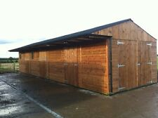 STABLES FOR SALE 2 NO 12 X 12 STABLES WITH WOODEN STORE TIMBER STABLE - CHESHIRE