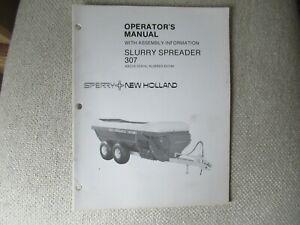 1985 New Holland 307 slurry manure spreader operator's manual