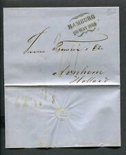 1859 brief van HAMBURG naar ARNHEM, stempel HAMBURG met vleugels