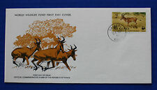 Kenya (91) 1977 Endangered Species - Hunter's Hartebeest WWF FDC