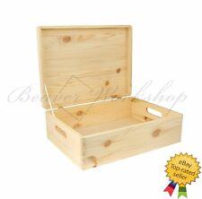 Large Wooden Box Keepsake Box  / With Lid  40x30x15 cm