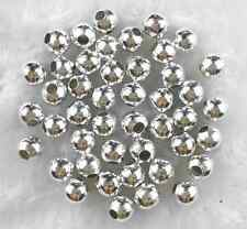 60Pcs 6mm Silver Plated Metal Spacer Loose Beads Jewelry Charms