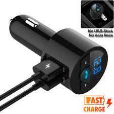 Universal Car Wireless Bluetooth 2 Usb Charger Fm Transmitter Radio Adapter Fast