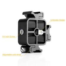 Multi-function Flash 3 Hot Shoe Bracket and Umbrella holder  3/8''-1/4'' Screw