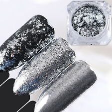 BORN PRETTY Silver Flakes Nail Mirror Glitter Powder Dust Sequins Paillette Tips
