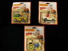 Lot Of 3 Vintage 1980 On Cards Lesney Matchbox Cars Popeye Olive Oyl Bluto