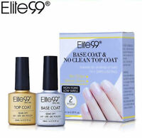 Elite99 Base Coat & Top Coat UV LED Gel Nail Polish Varnish Sealer Soak Off 10ML
