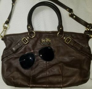 EUC butter soft Coach Madison Sophia Leather Satchel Brown bag only