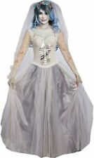 Dying to Marry Ghost Bride Spirit Woman Fancy Dress Up Halloween Adult Costume