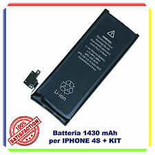 BATTERIA ORIGINALE IPHONE 4S 1430mAH  ZERO CICLI