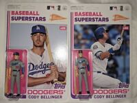 (2) 2020 Topps Big League Baseball Figure Cody Bellinger Superstars Variation