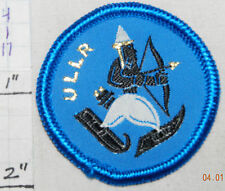 MINNESOTA? ULLR SKI CLUB NORSE GOD SKIING ARCHERY VINTAGE WOVEN 1960's ERA PATCH