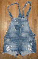 """ STRADIVARIUS "" Damen- Jeans Latzhose / Shorts in blau Gr. 42"