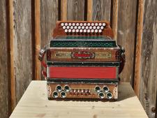 Steirische Harmonika Hohner Alpina 3-chörig mit Koffer & Riemen