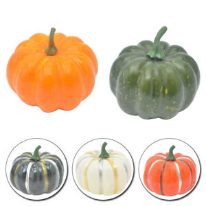 1PC Decoration Artificial Foam Pumpkin Halloween Home Fake Fruit Lifelike Mini