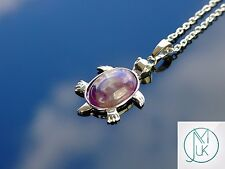 Amethyst Turtle Natural Gemstone Pendant Necklace 50cm Healing Stone Chakra