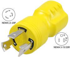 Generator plug adapter 5-15/20R to  L5-20P 30123