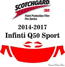 3M Scotchgard Paint Protection Pro Fits 2014 2015 2016 2017 Infiniti Q50 Sport