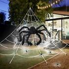 Giant Triangular Mega Spider Web Halloween Decorations For Outdoor 16 x 17 FT