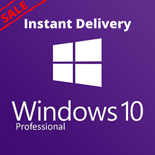 Windows 10 PRO ⚡️ 32/64 BIT 🔑 Genuine License KEY ✅ INSTANT DELIVERY ✅