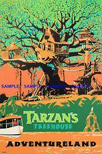 "Vintage Disney ( Tarzan's Treehouse ) 11"" x 17"" Collector's Poster Print - B2G1F"