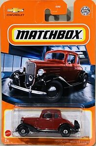Matchbox 1934 Chevy Master Coupe Red 2021 New Release