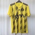Adidas TIVERTON TOWN FC 2018 Mens Football Home Shirt Top Size LARGE, Yellow