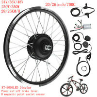 Electric eBike Motor Conversion Kit F/R Wheel 24V 250W LED Display Refit Rim 20""