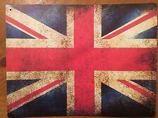 Tin Sign Vintage British Flag