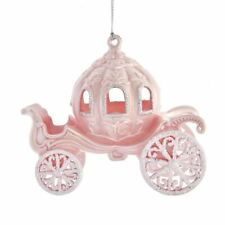 FAIRY TALE CARRIAGE Pink Christmas Ornament, by Kurt Adler