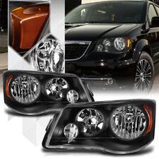 Black Housing Headlight Amber Reflector for 08-16 Town&Country/Grand Caravan