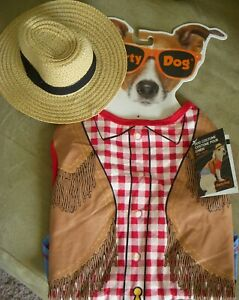 Party Dog Costume Cowboy Western Sheriff NWT Medium Size 14 - 20 Inch