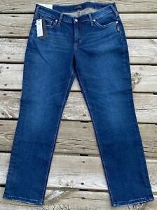"Silver Elyse Plus Size Slim Leg Mid Rise Curvy Jeans Denim 12 x 29 New 10"" Rise"