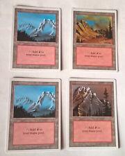 Lot de 4 cartes Magic, Montagne, Mountain édition revised